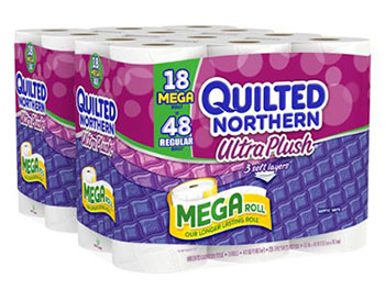 1. Quilted Northern Ultra Plush Bath Tissue - Family Toilet Papers