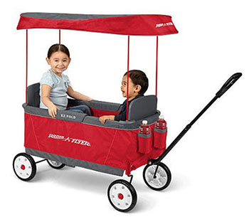 1. RADIO FLYER KID'S ULTIMATE EZ FOLDING WAGON - Folding Wagons