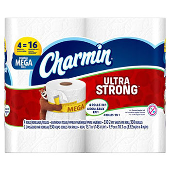 10. Charmin Ultra Strong Bathroom Tissue