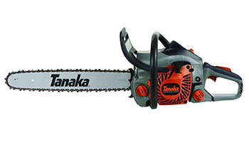 10. Tanaka TCS40EA18 18-Inch 40cc 2-Stroke Gas Powered Rear Handle Chainsaw