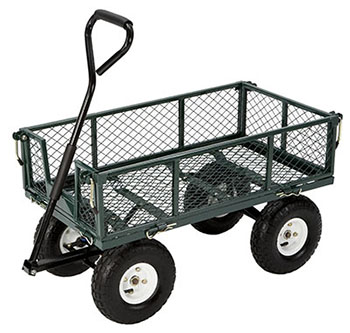 2. FARM &RANCH FR110-2 STEEL GARDEN CART WITH FOLDING SIDES