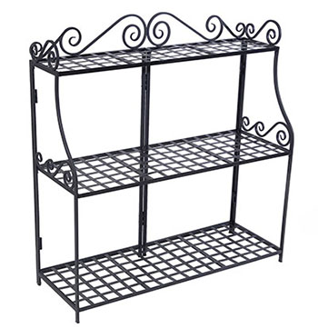 2. Panacea Products Forged 3-Tier Plant Stand