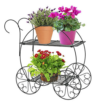3. CobraCo Two Tiered Garden Cart FC100 - Indoor Plant Stands