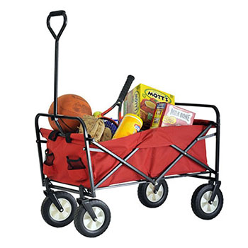 4. SANDUSKY LEE FCW3622 RED POLYESTER FABRIC FOLDING WAGON