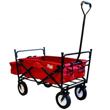 5. ON THE EDGE 900124 RED FOLDING WAGON