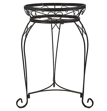 5. CobraCo 21-Inch Scroll Braided Bronze Finish Plant Stand