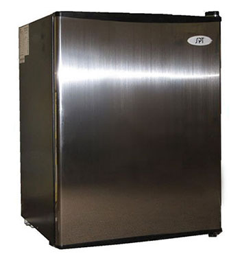 5. SPT Compact Stainless Refrigerator