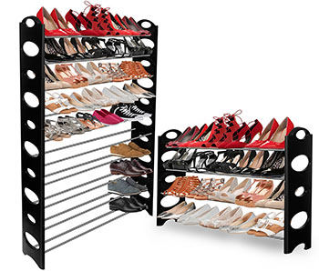 Image result for Stackable shoe rack 36 pairs