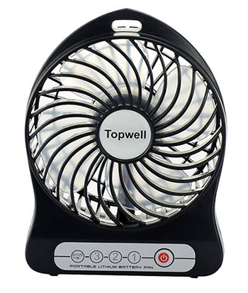 7. Efluky Mini Portable Table Fan
