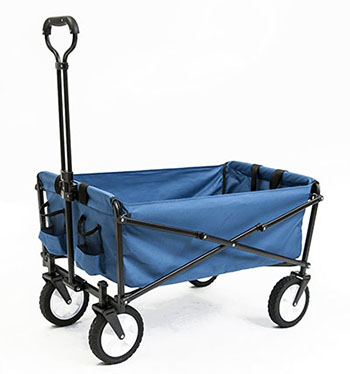 8. SEINA COLLAPSIBLE BLUE GARDEN CART SHOPPING FOLDING WAGON