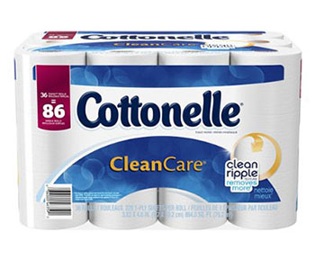 9. Cottonelle CleanCare Family Roll Toilet Paper