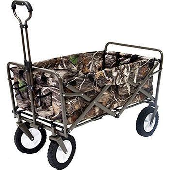 9. MAC SPORTS REALTREE CAMOUFLAGE OUTDOOR FOLDING WAGON