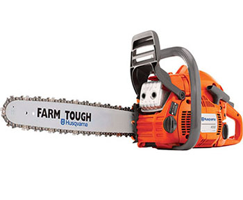 9. Husqvarna 967166101 450 2-Cycles Gas Chainsaw, 50cc, 20-Inch