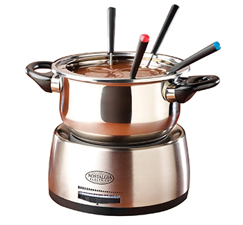 2. Nostalgia FPS200 Family Size Stainless Steel Electric Fondue Pot with Fondue Forks