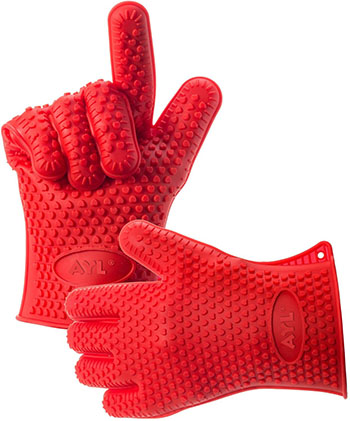 2. AYL Silicone Heat Resistant Grilling and BBQ Gloves