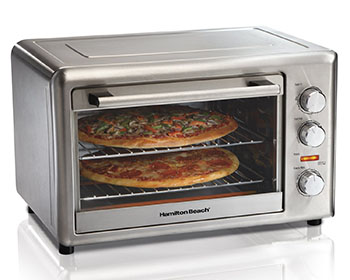 3. Hamilton Beach 31103A-Countertop Oven (Convection and Rotisserie)