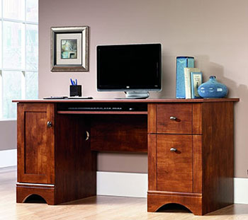 3. Sauder Computer Desk-Brushed Maple Finish-Best Home Sauder Computer Desks