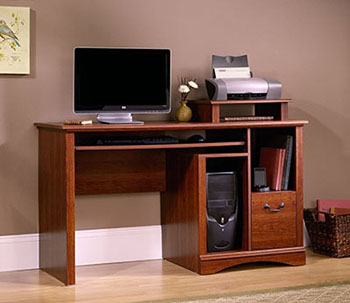7. Sauder Camden County Computer Desk-Planked Cherry Finish
