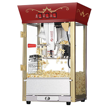 9. Great Northern Red Matinee Movie Theater-Style Antique Popcorn Machine