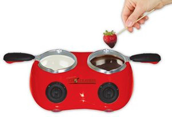 9. Total Chef CM20G Electric Fondue with Two Melting Pots