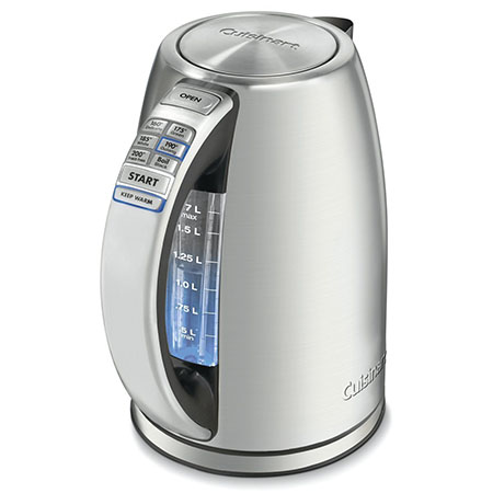 1. Cuisinart CPK-17 PerfecTemp Cordless Electric Kettle