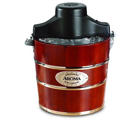 10. Aroma Housewares 4-Quart Traditional Ice Cream Maker