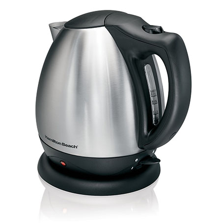 2. Hamilton Beach 40870 Stainless Steel Electric Kettle-10-Cup-Best Electric Tea Kettles