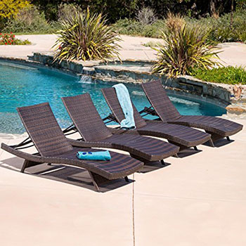 4. Great Deal Furniture Lakeport Chaise Lounge Chair
