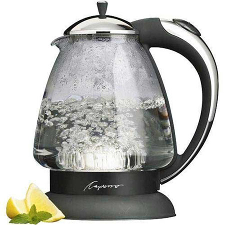 55. Capresso 259 H2O Plus Glass Water Kettle