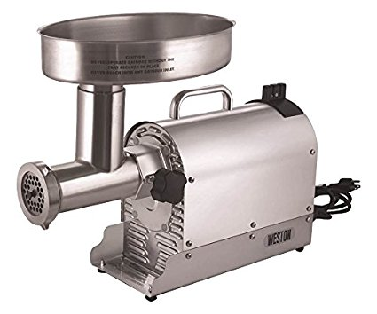6. Weston Pro Series Electric Meat Grinder – Silver