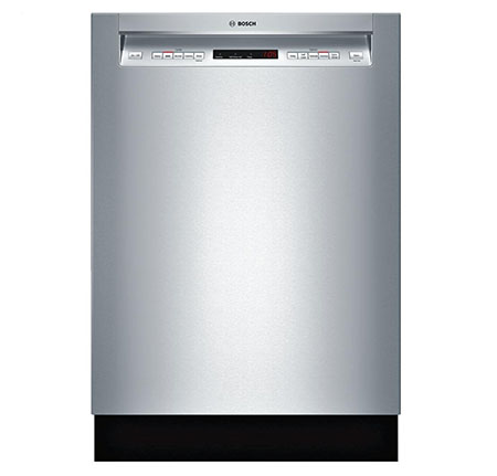 "7. Bosch SHE65T55UC 500 24"" Stainless Steel Semi-Integrated Dishwasher"