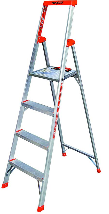 1.Flip-N-Lite 300-Pound Duty Rating 6-foot Stepladder - Best Ladders