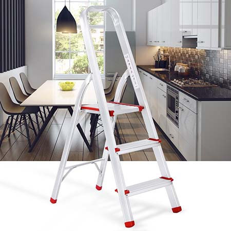 9.Finether Portable Folding Aluminum 3 Step Ladder