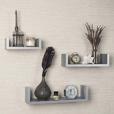 10). Danya B Laminated U Shelves