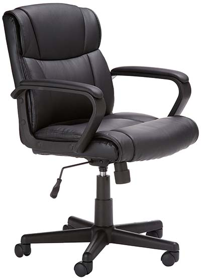 2. Amazon Basics Mid Back Office Chair