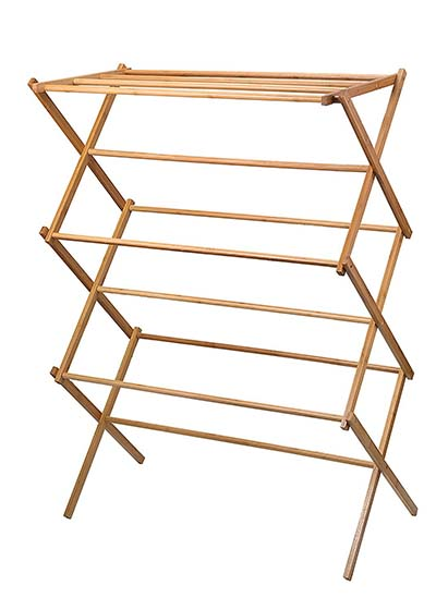 3. Home-it Bamboo Wooden Rack