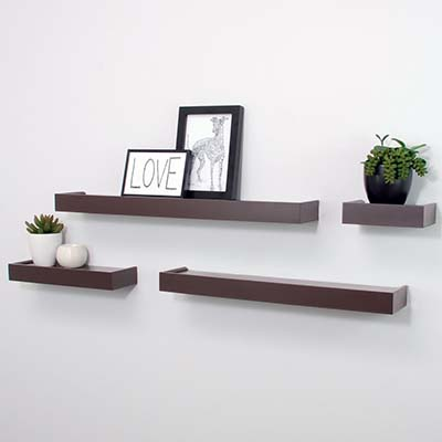 3). Nexxt Vertigo Ledge Shelves