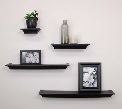 6). Nexxt Classic Multi-Length shelves