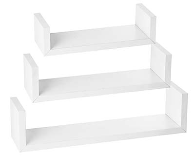 7). Halter Wall Shelves