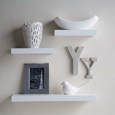 9). Finley Home Hudson Easy Mount Shelves