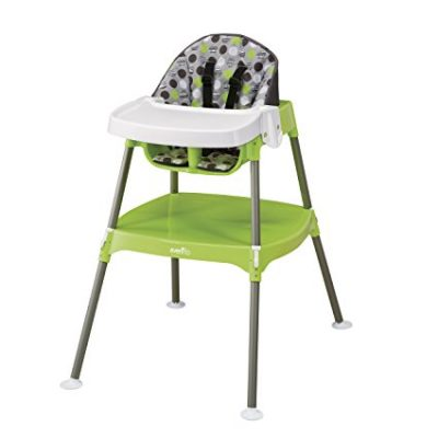 2. Evenflo Dottie Lime High Chair (Convertible)