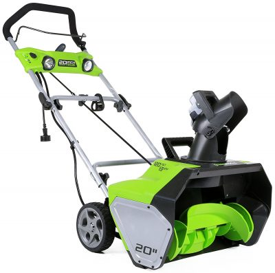 8. GreenWorks 13 Amp Corded Snow Thrower (2600202)