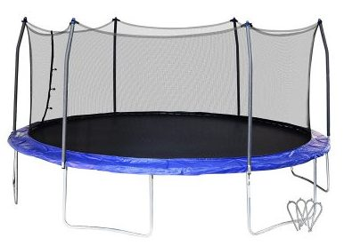 9. Skywalker 17 Feet Oval Trampoline (SWTC17BWS)