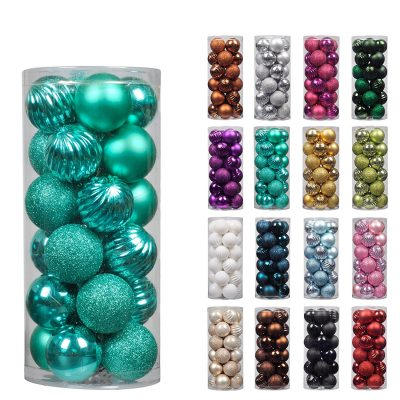 10. KI Store 24ct Christmas Ball Ornaments