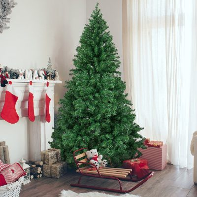 10- 6' Premium Hinged Artificial Christmas Pine Tree With Solid Metal Legs 1000 Tips Full Tree (SKY2359)