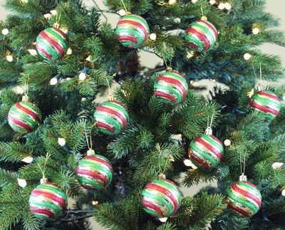 2. Festive Season Set of 12 Christmas Ball Ornaments