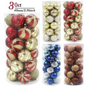 3. Valery Madelyn 30ct Christmas Ball Ornaments