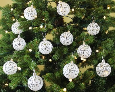 5. Festive Season Set of 12 Christmas Ornaments