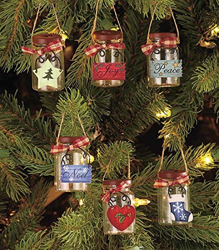 LTD Set of 6 Jar Ornaments