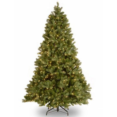 "7- National Tree 6.5 Foot ""Feel Real"" Down swept Douglas Fir Tree with 650 Clear Lights, Hinged (PEDD1-312-65)"